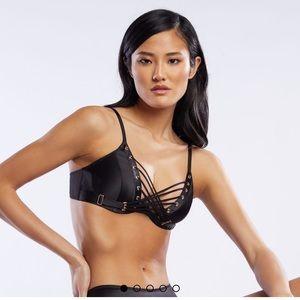 Victoria's Secret Intimates & Sleepwear - Savage Lace Up Satin Bra 34D